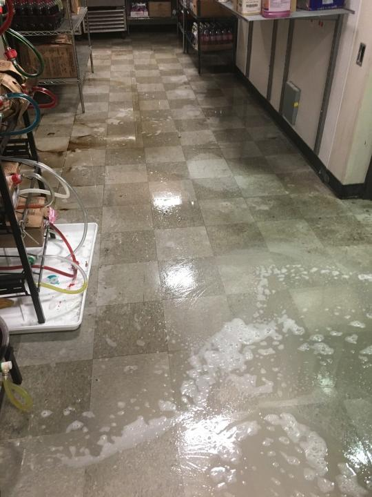 Before & After Floor Care at Convenient Store in Charlotte, NC